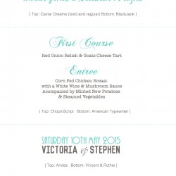 wedding font ideas and font combinations