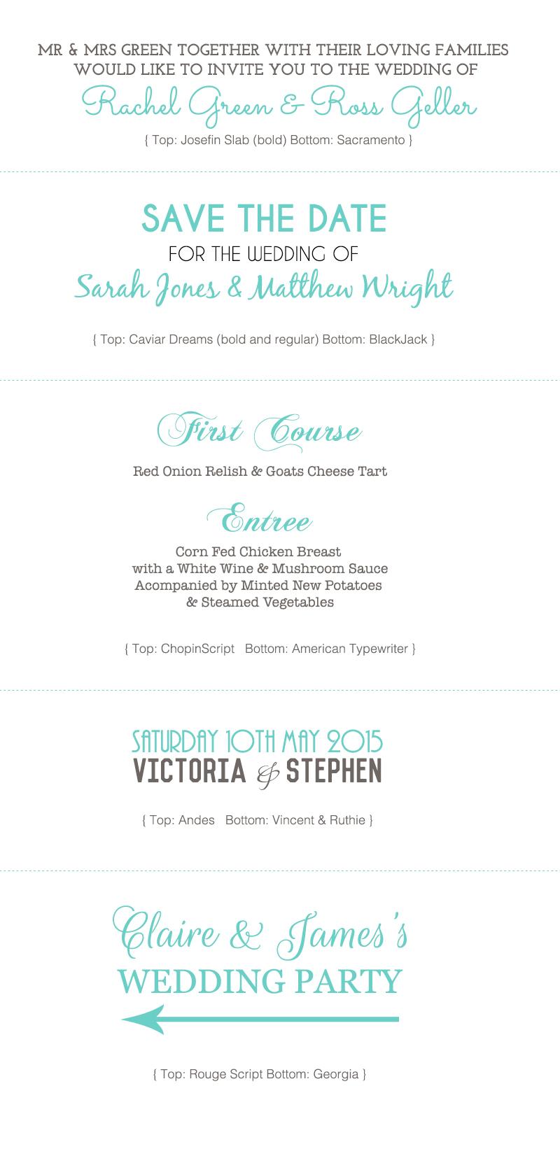Wedding Fonts Ideas Part 2 - Magic Aisle